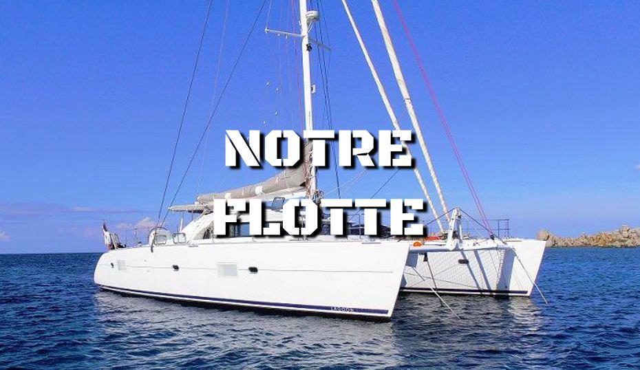 La flotte de catamarans et monocoques de Croisière Bleue